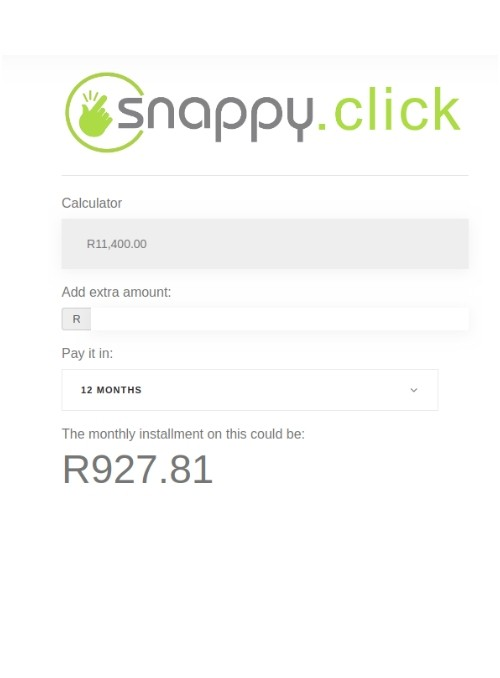Snappy finance calculator module