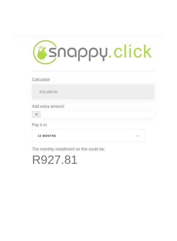 Snappy finance calculator module
